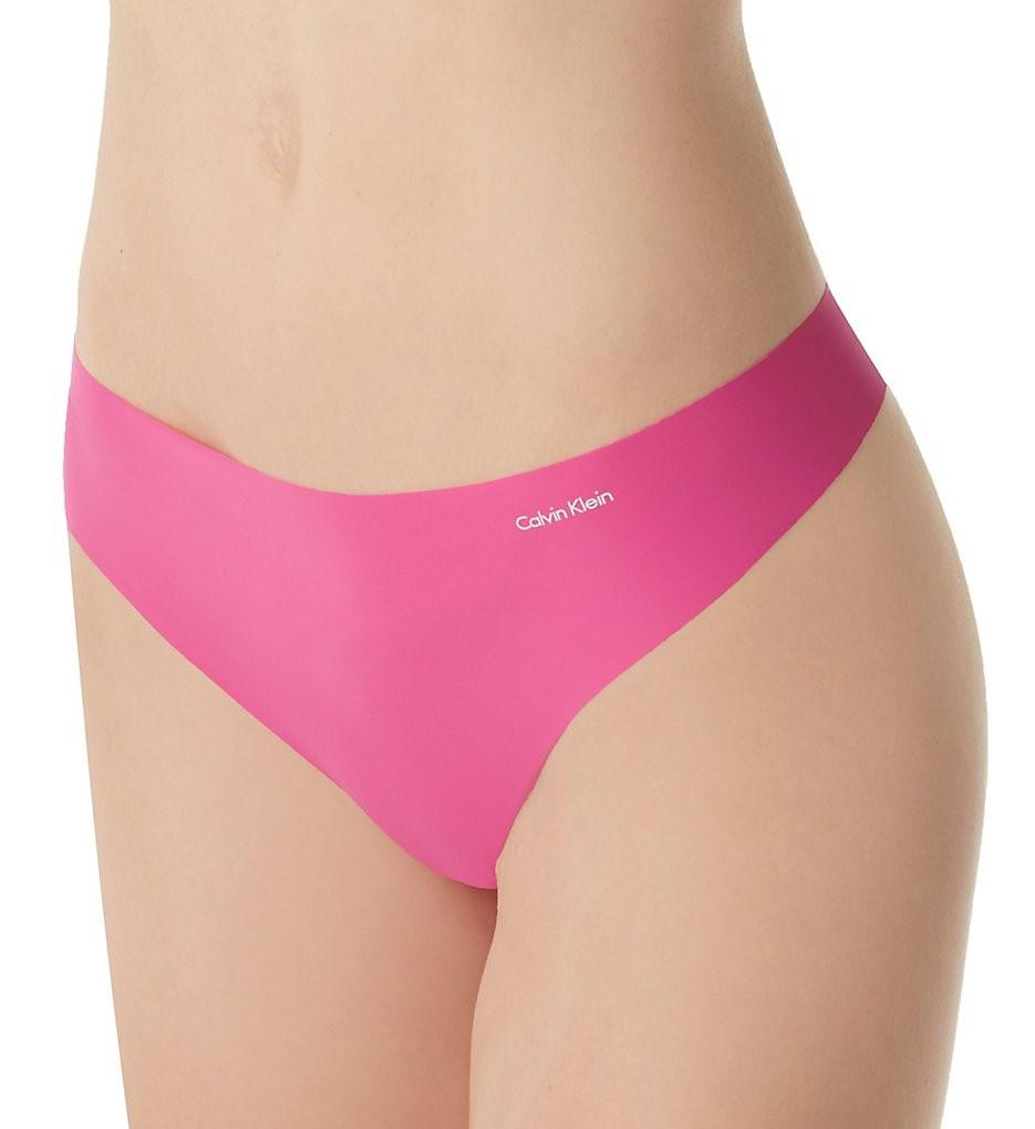 5791fa838fdc Lyst - Calvin Klein D3428 Invisibles Thong in Pink