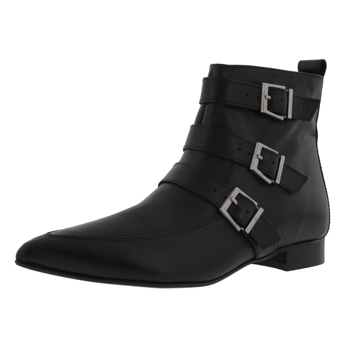 Womens Nari Leather Pointed Toe Ankle Boots