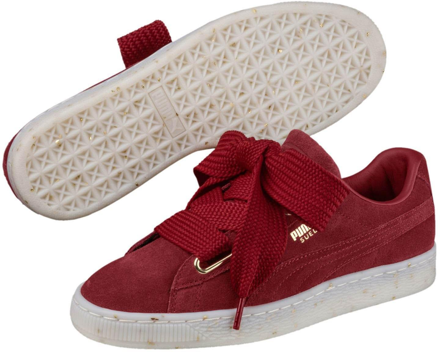 Lyst - PUMA 365561-02   Suede Heart Celebrate Sneaker in Red 367288570cc45