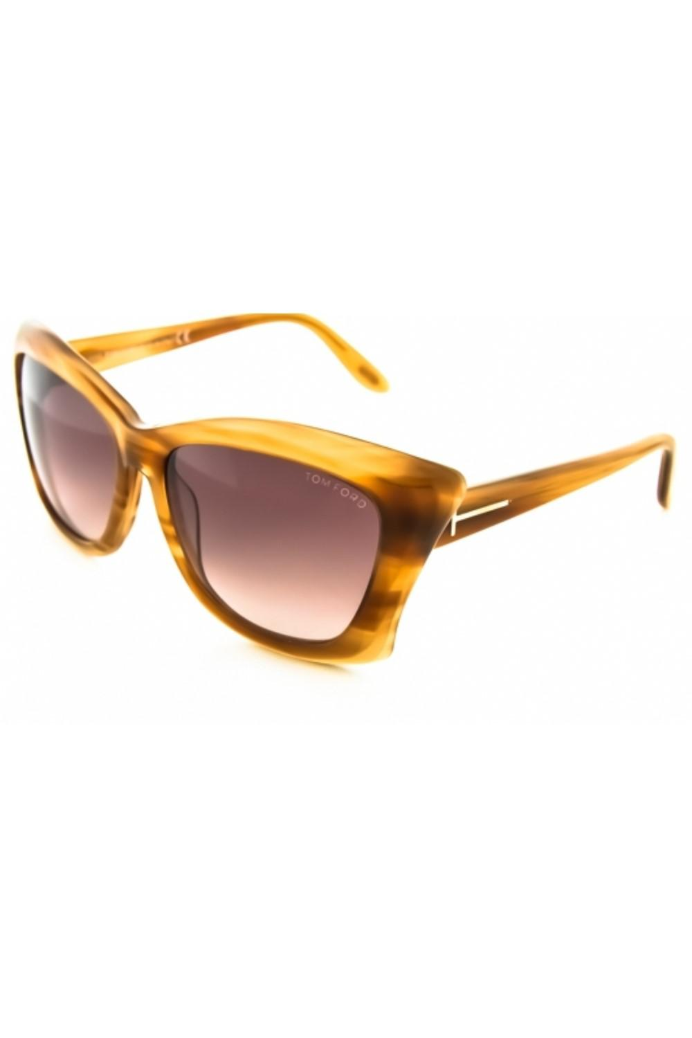 08bc4730df69 Lyst - Tom Ford Ft0280 Lana Square Sunglasses in Brown