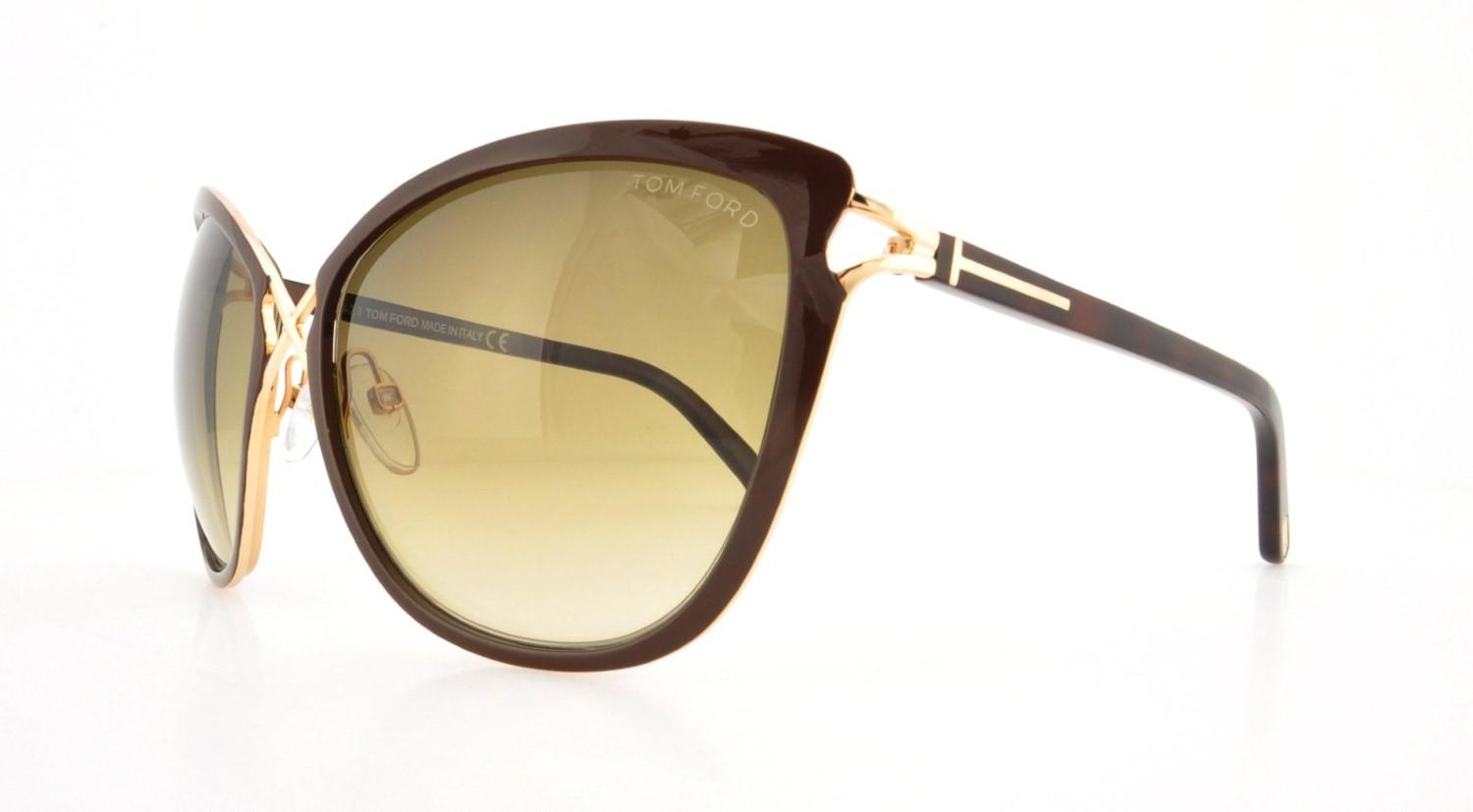 02108083845 Lyst - Tom Ford Ft0322 Celia Cateye Sunglasses in Metallic