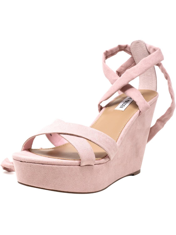 35947cba455 Lyst - Steve Madden Petal Wedged Sandal - 9.5m in Pink