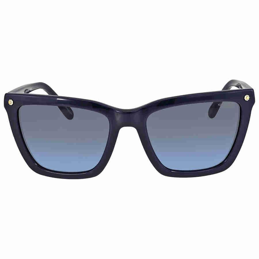 06a52ccdea Lyst - COACH Grey Blue Gradient Cat Eye Sunglasses in Blue