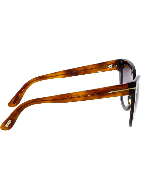 d45e1765b544b Lyst - Tom Ford Arabella Cat Eye Sunglasses in Black