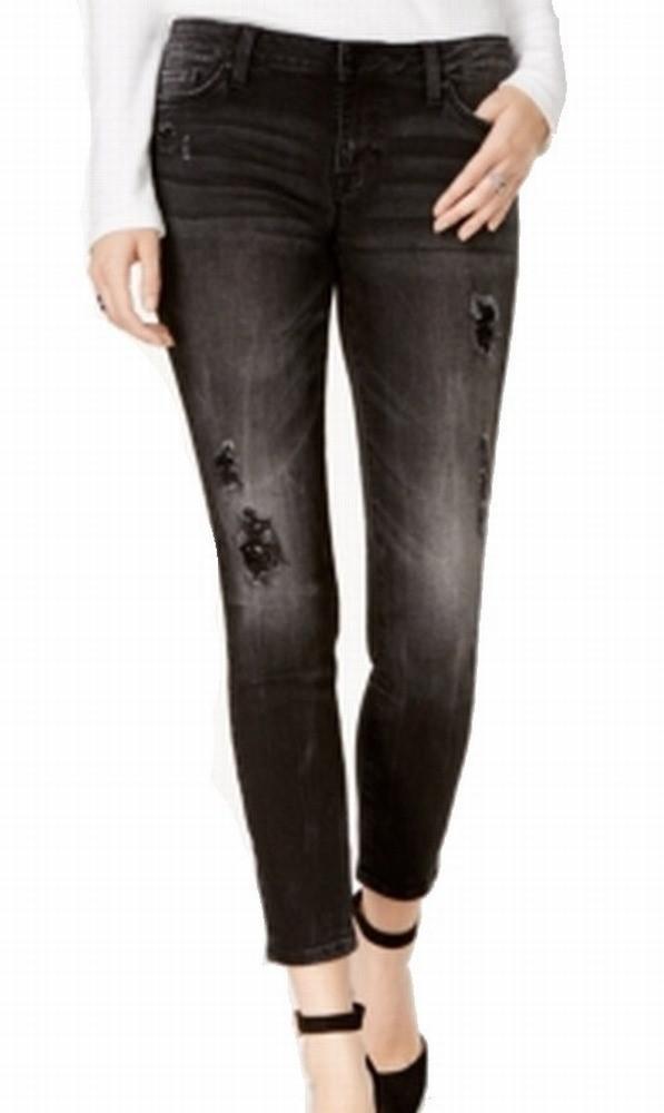 a58b5c637fe Lyst - Tommy Hilfiger Black 10 Embellished Slim Skinny Jeans in ...