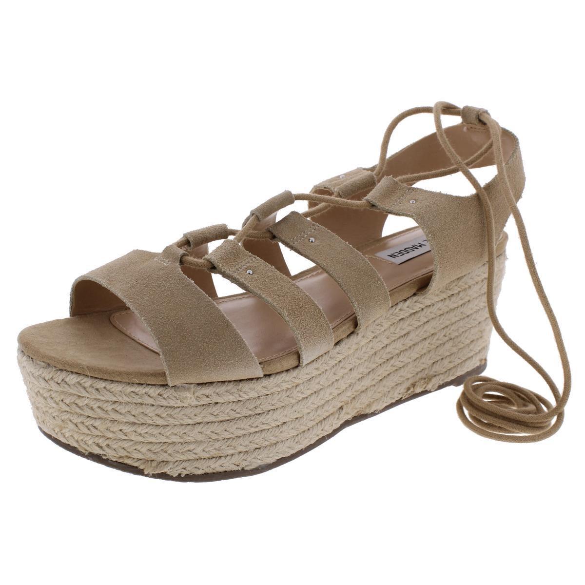 99989af7592 Lyst Steve Madden Brayla Suede Ghillie Platform Sandals