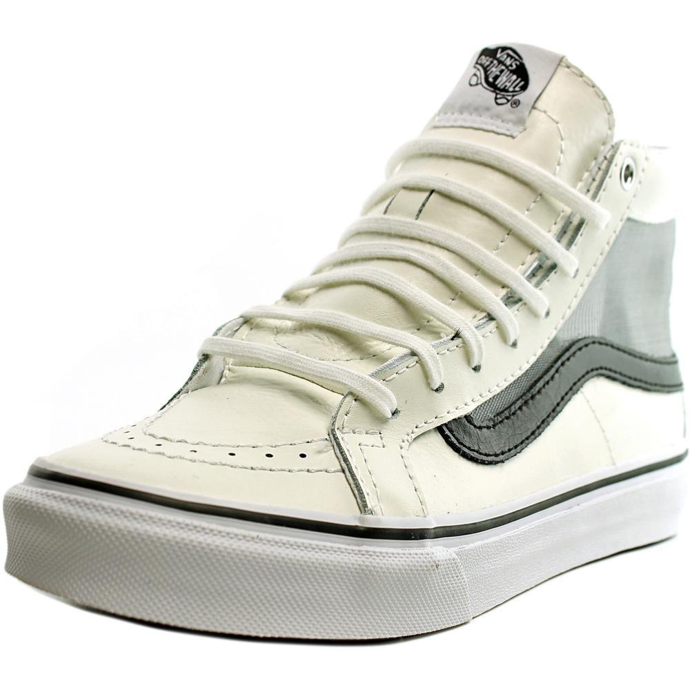 5a139c0a9d Lyst - Vans Sk8-hi Slim Cutout Round Toe Synthetic Sneakers in White