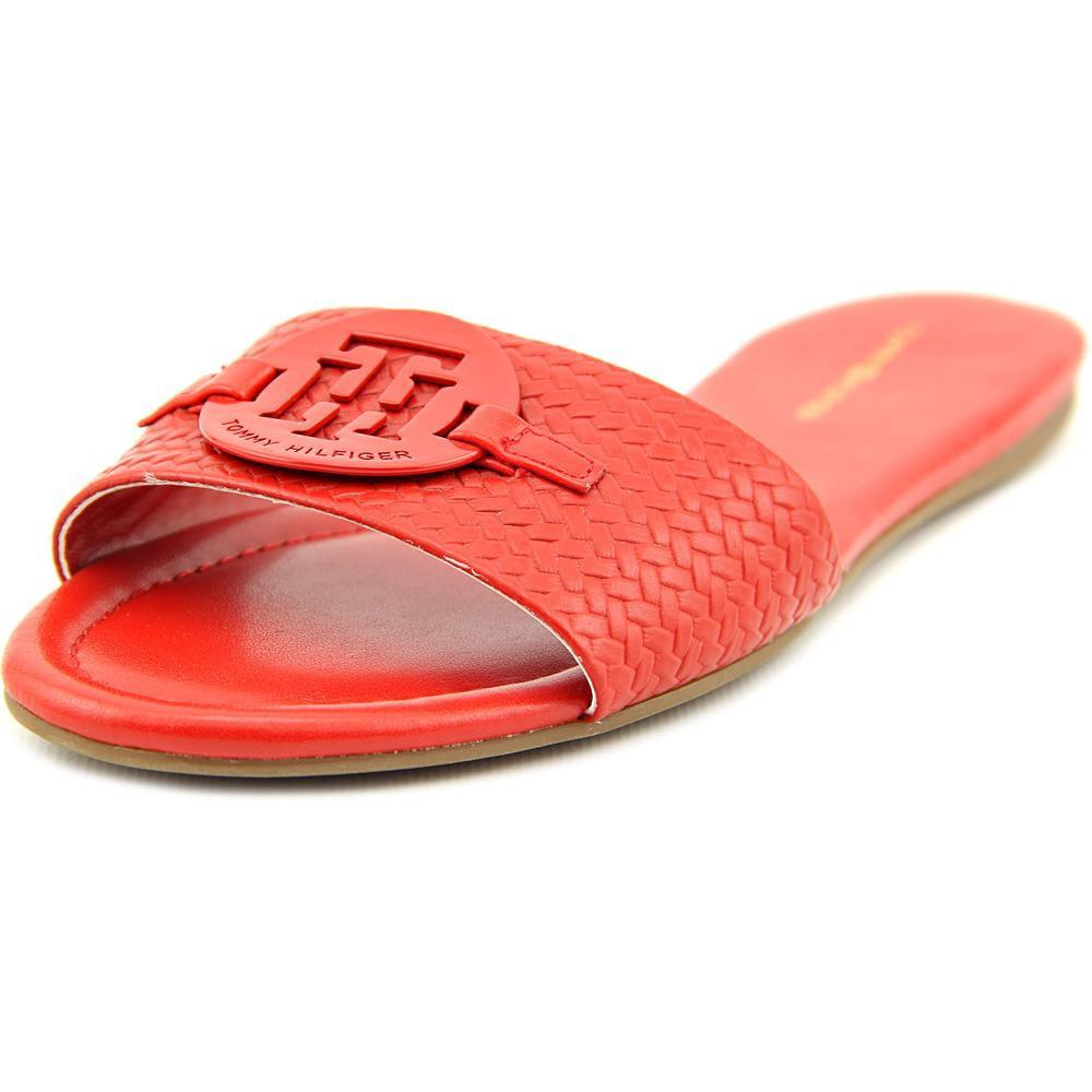 58e417bc8f550 Lyst - Tommy Hilfiger Fabre Women Us 6.5 Red Slides Sandal in Red