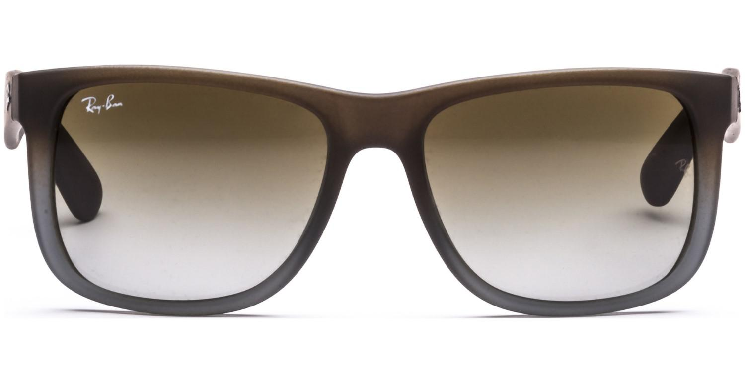 f495758f1a Lyst - Ray-Ban 0rb4165 854 7z 55 Rubber Brown On Grey green Gradient ...