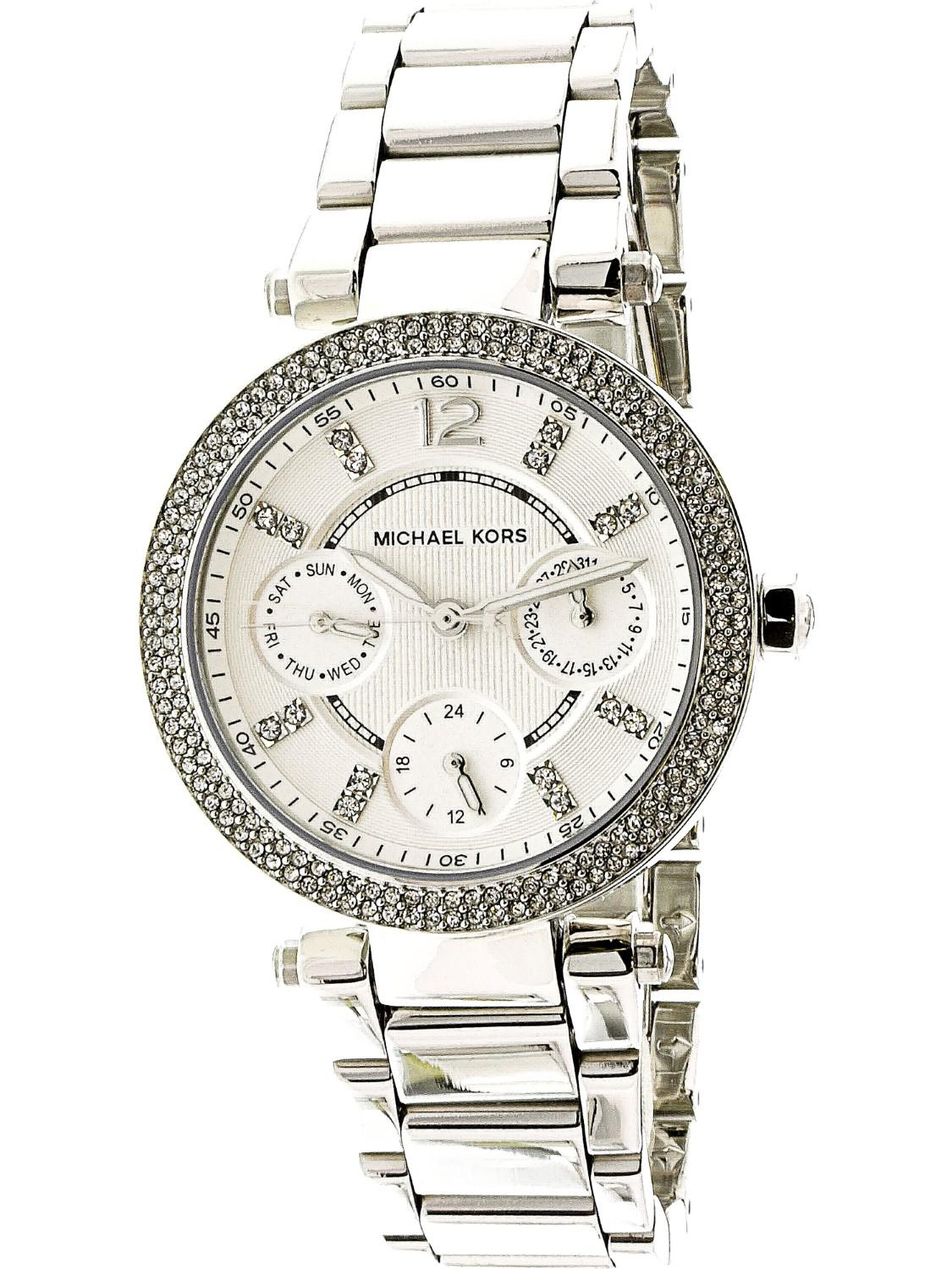 fb032cd8a797 Lyst - Michael Kors Parker Mk5615 Silver Stainless-steel Japanese ...