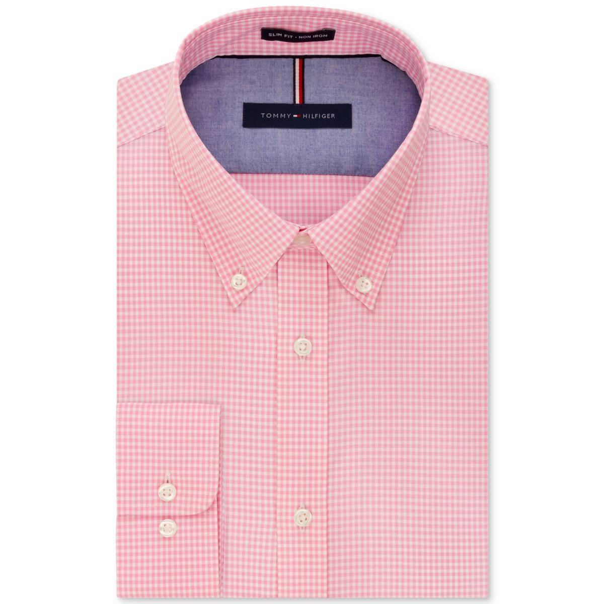 79e89b91 Lyst - Tommy Hilfiger Slim Fit Checkered Button-down Shirt in Pink ...