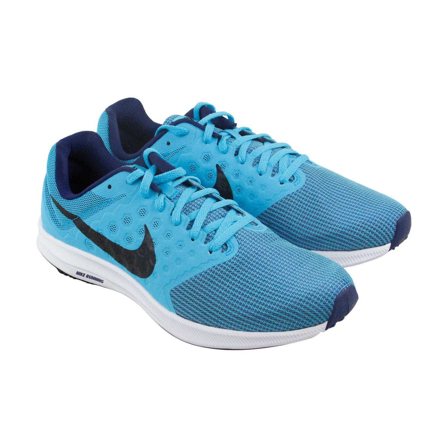 d62e7be5f234 Lyst - Nike Downshifter 7 Black Athletic Running Shoes in Blue for Men