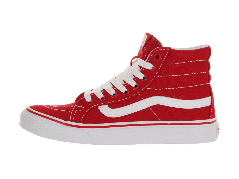 4553477746 Lyst - Vans Unisex Sk8-hi Slim Racing Red true White Skate Shoe 6.5 ...