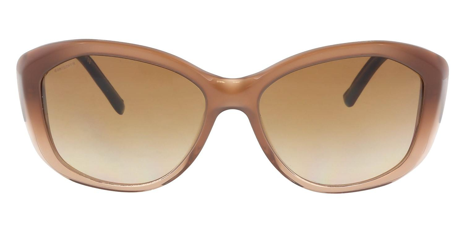 3bf0823c712 Lyst - Burberry Be4208q 317313 Round Sunglasses in Brown