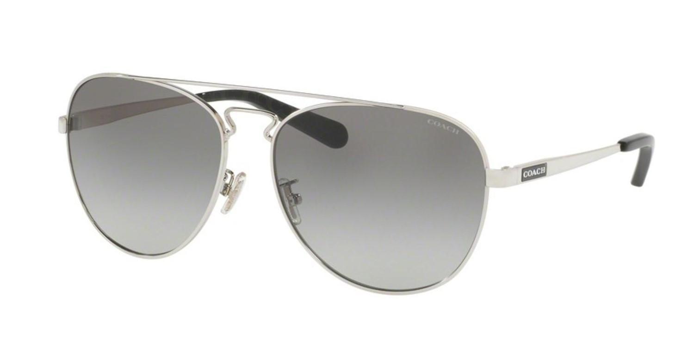 beb2d1b48c Lyst - COACH Sunglasses Hc 7069 929411 Silver black Gunmetal Sig C ...