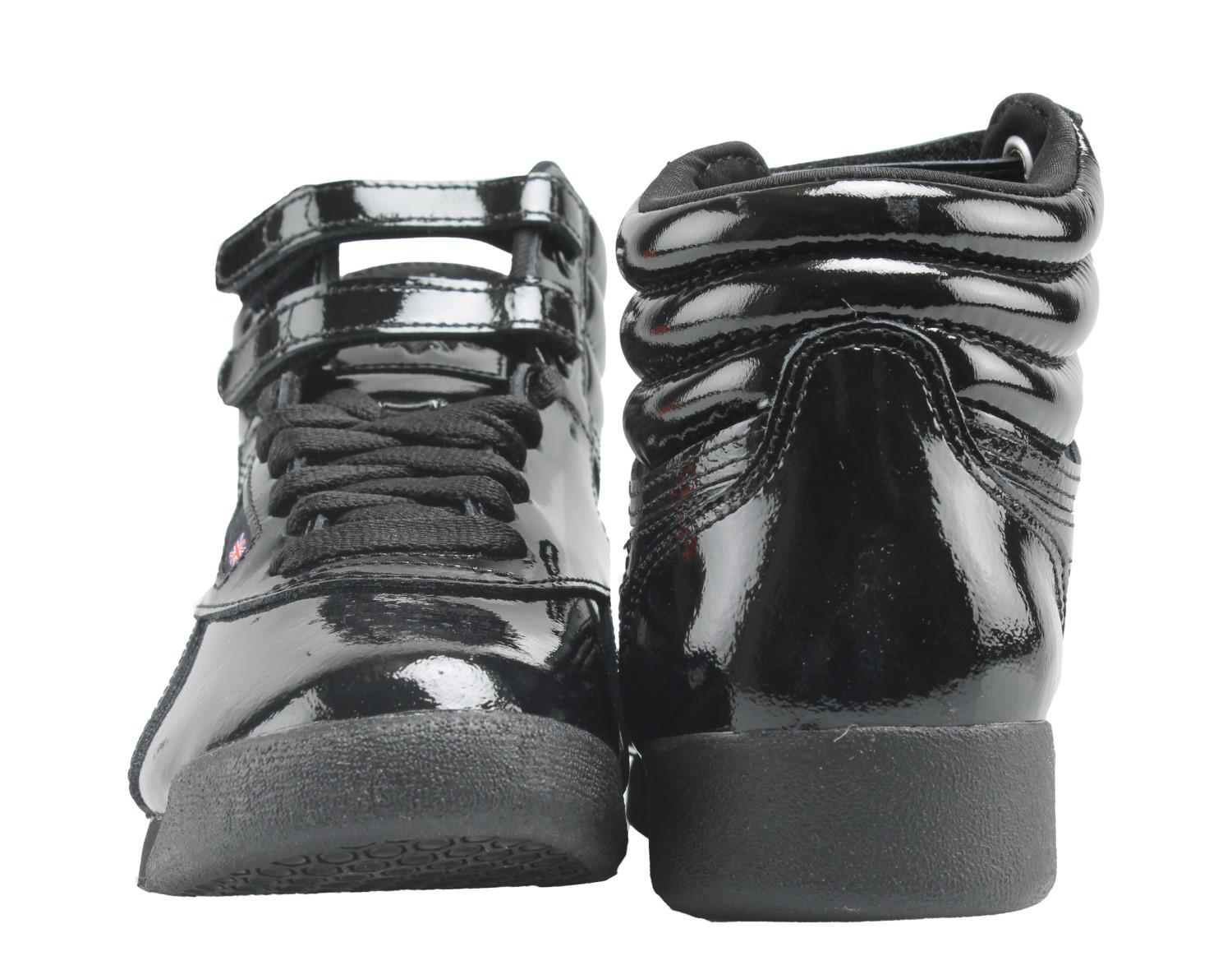 bebe79a213e9 Lyst - Reebok Classic Freestyle Hi Patent Shoes in Black