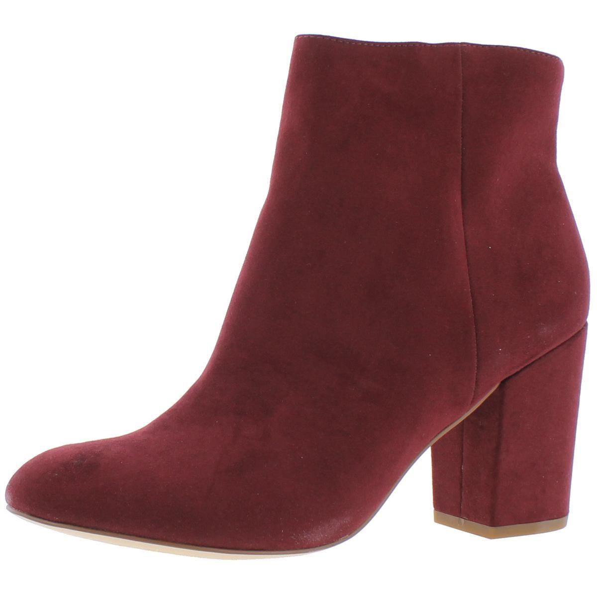 Womens Critic Faux Suede Round Toe Ankle Boots