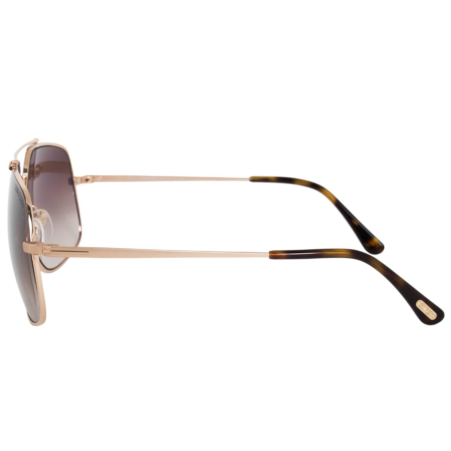 05a6ac1e0b Tom Ford Ft0439 Ronnie Aviator Sunglasses in Brown - Lyst