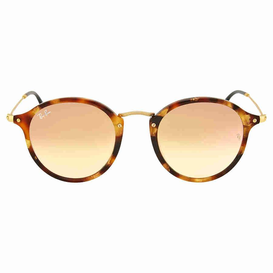 09dcea6ded6 Lyst - Ray-Ban Round Fleck Copper Gradient Flash Sunflasses Rb2447 ...