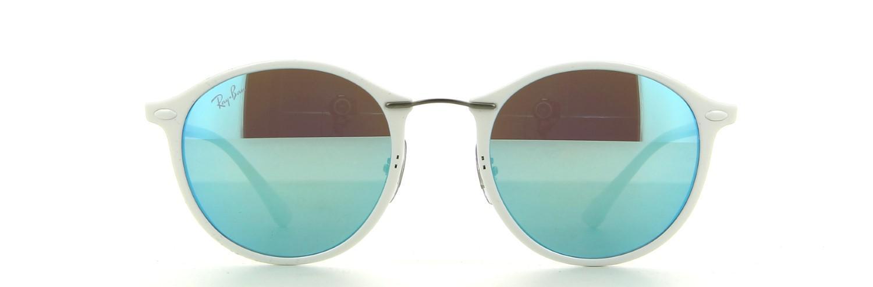639e3d63b5c Lyst - Ray-Ban 0rb4242 671 55 49 Shiny White green Mirror Blue Tech ...