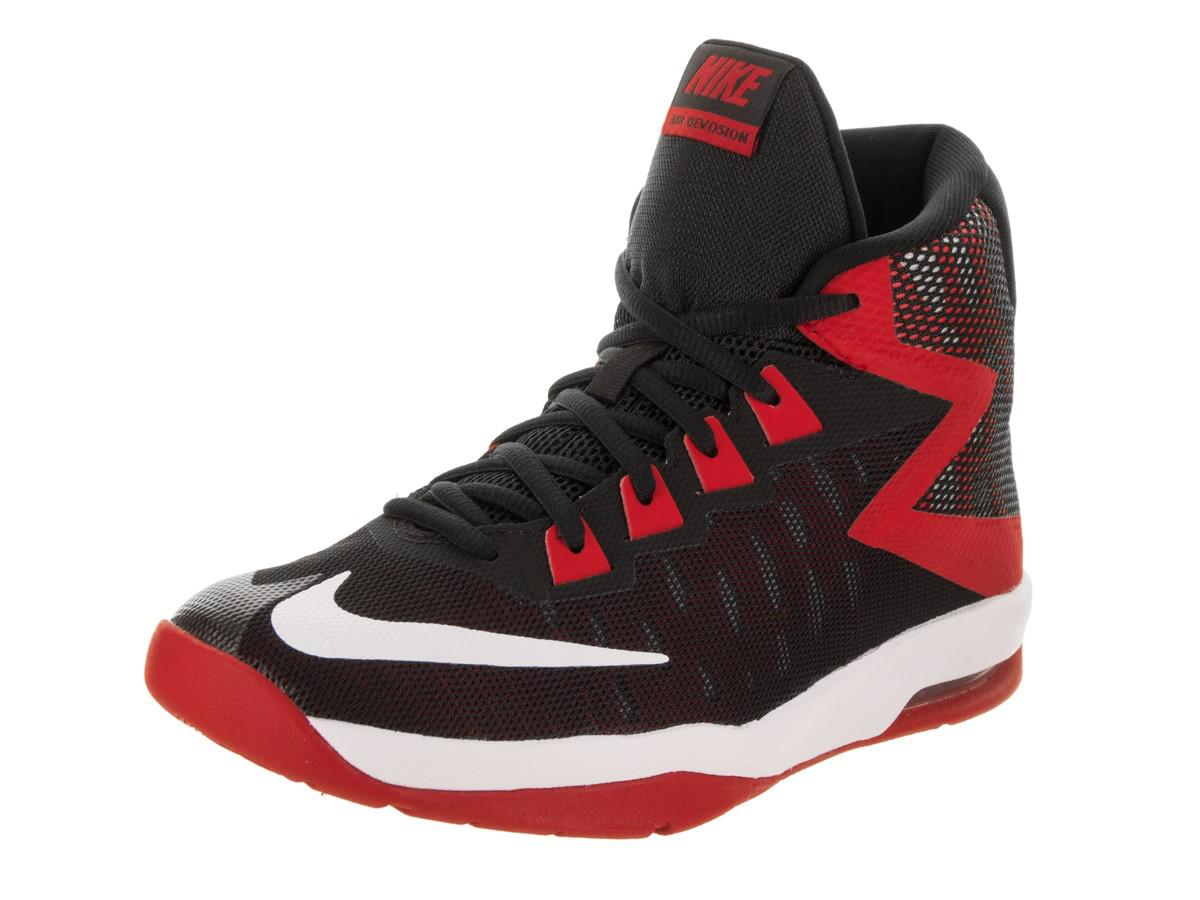 2992c41643c0d Lyst - Nike Kids Air Devosion (gs) Black white University Red ...