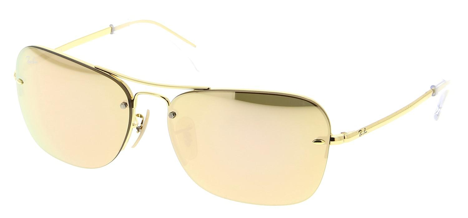 157f593ed8 Lyst - Ray-Ban 0rb3541 001 2y 61 Gold brown Mirror Pink Highstreet ...