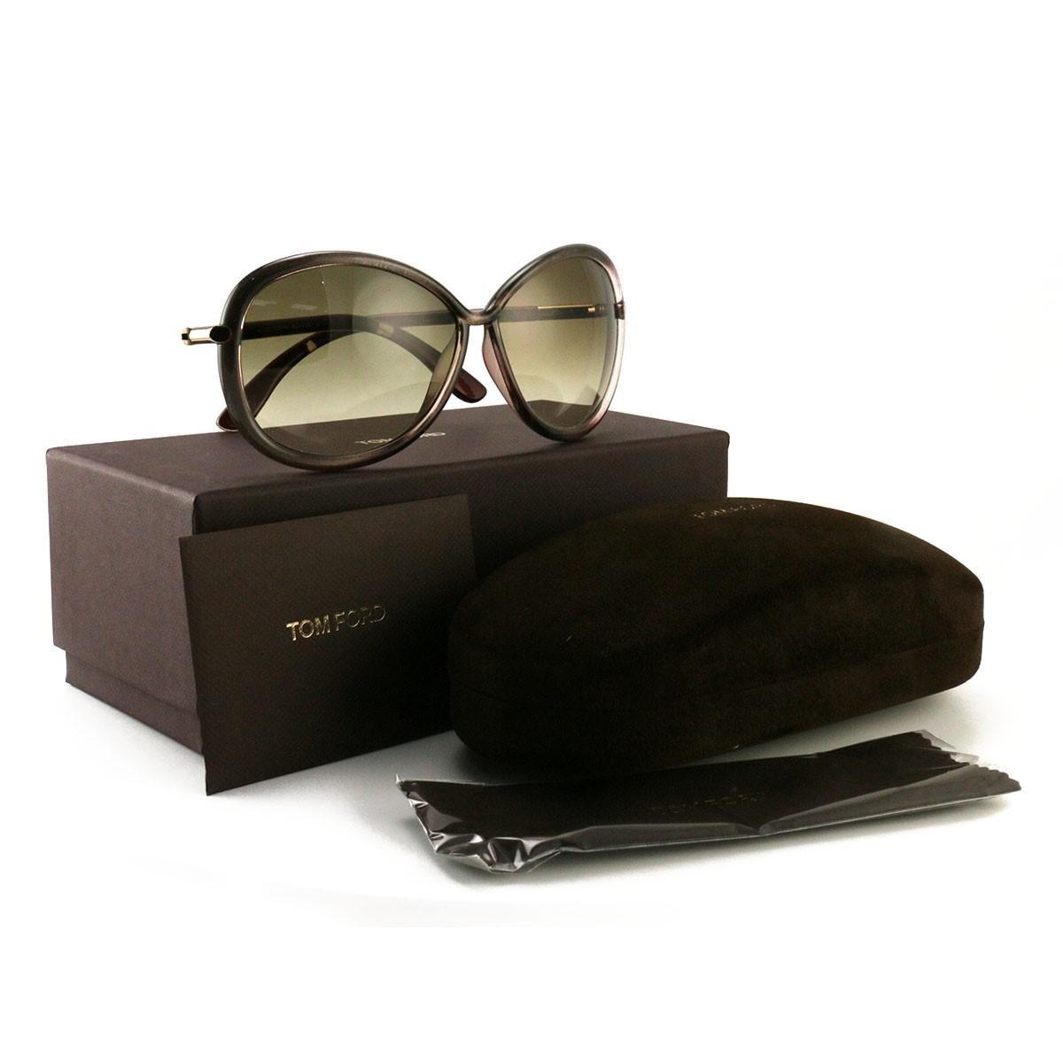 1076e63d198e Lyst - Tom Ford Sunglasses Ft0162 tf016250f Metalized Gray Gold ...