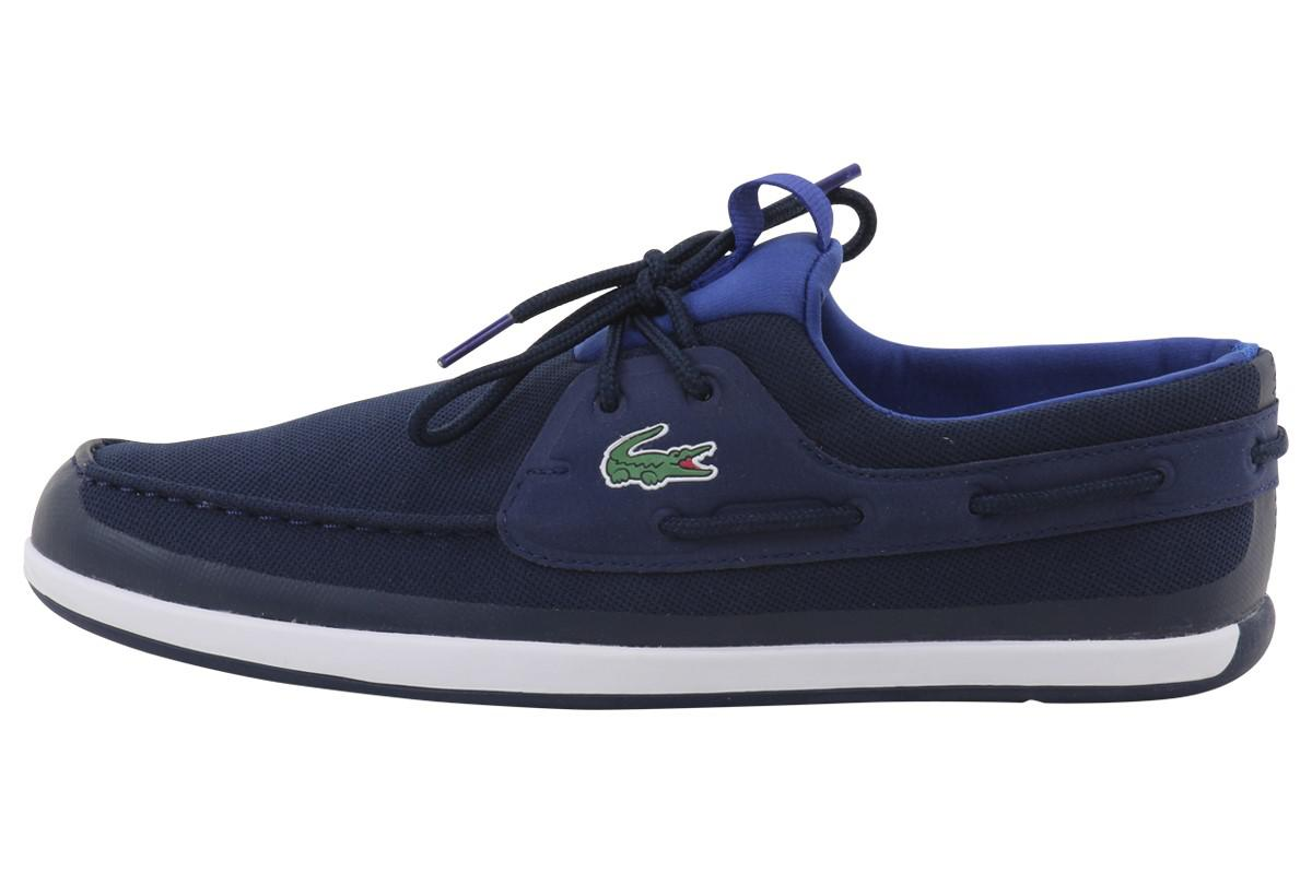 818ce3fa7cb27 Lyst - Lacoste L.andsailing 316 3 Navy Fashion Boat Shoes Sz  13 in ...