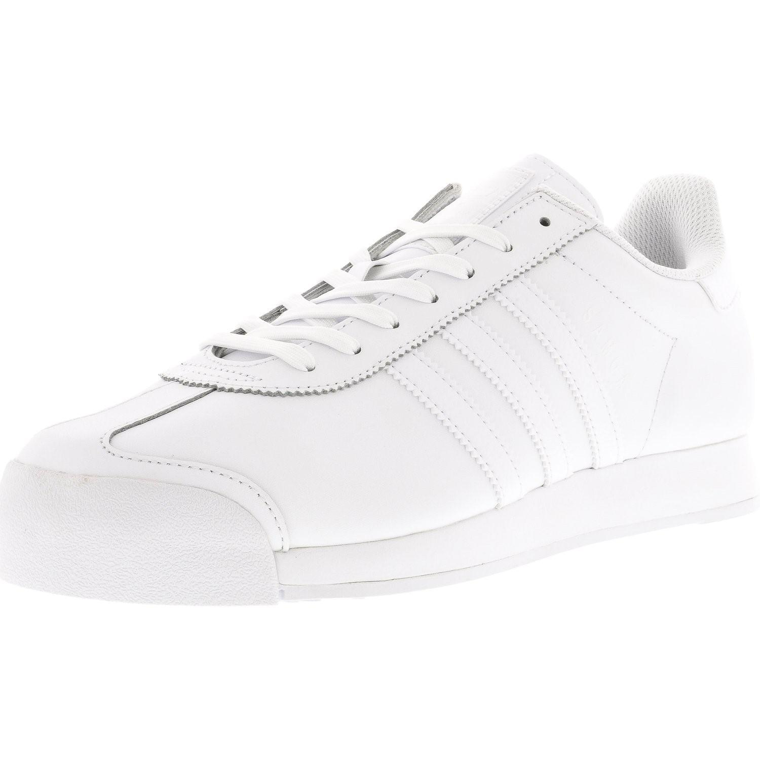 hot sale online 63a03 c512a Lyst - Adidas Samoa Footwear White   Cool Grey Ankle-high Leather ...