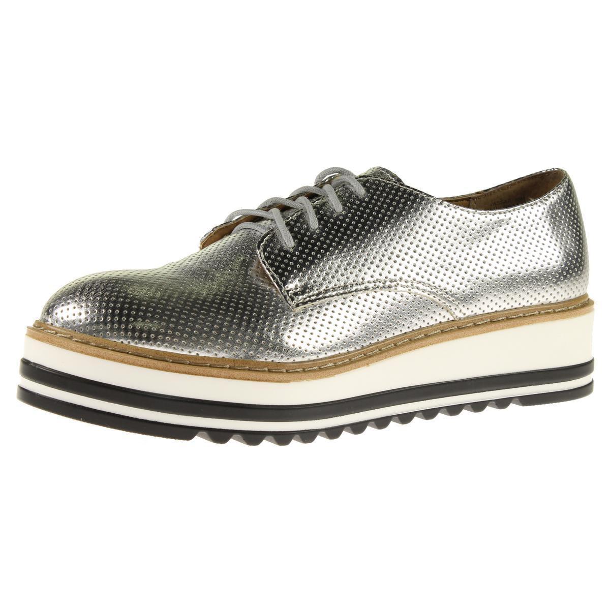 c7f6532835d Lyst - Steve Madden Vassar Faux Leather Platform Shoes in Metallic