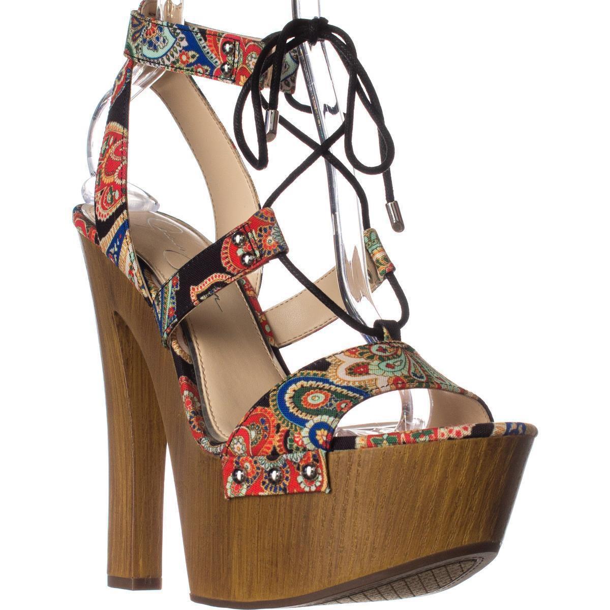 dde2255e8f51 Lyst - Jessica Simpson Doreena Ankle Tie Platform Sandals