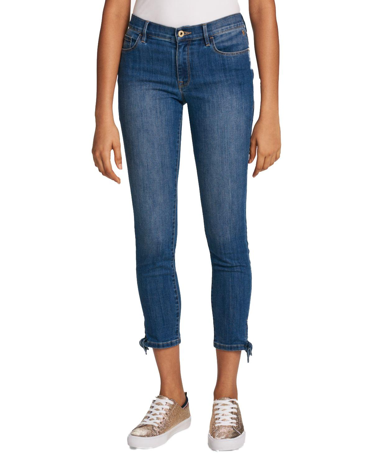 c504c08bd Lyst - Tommy Hilfiger Tie-ankle Skinny Jeans in Blue