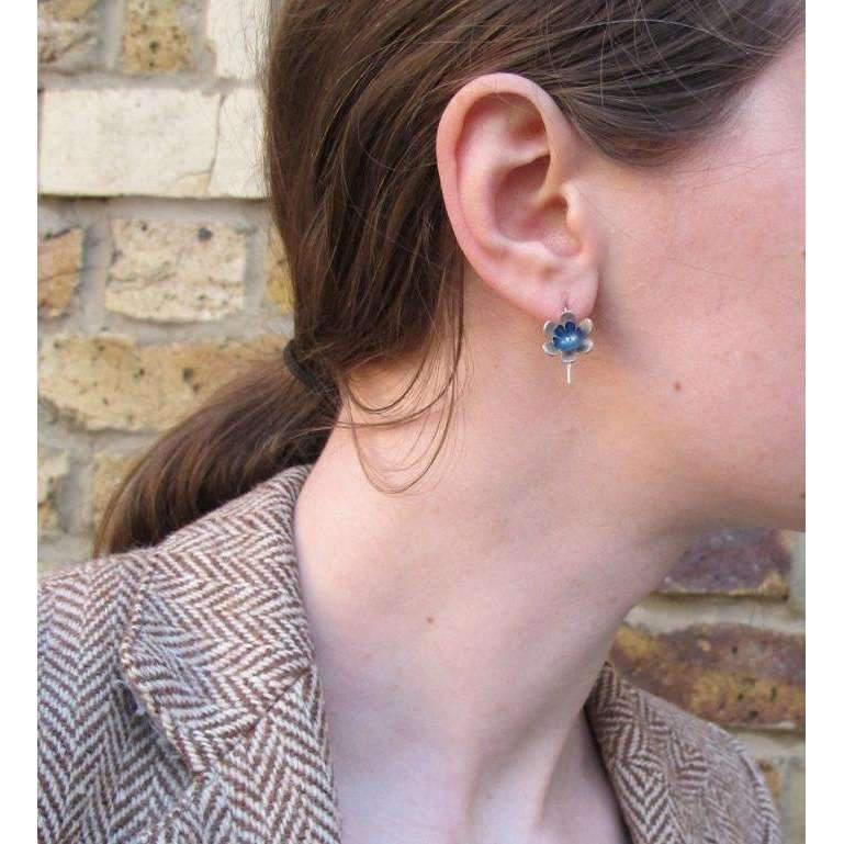 Sian Bostwick Jewellery Forget-me-not double Flower Drop Earrings 0Msl8mW0