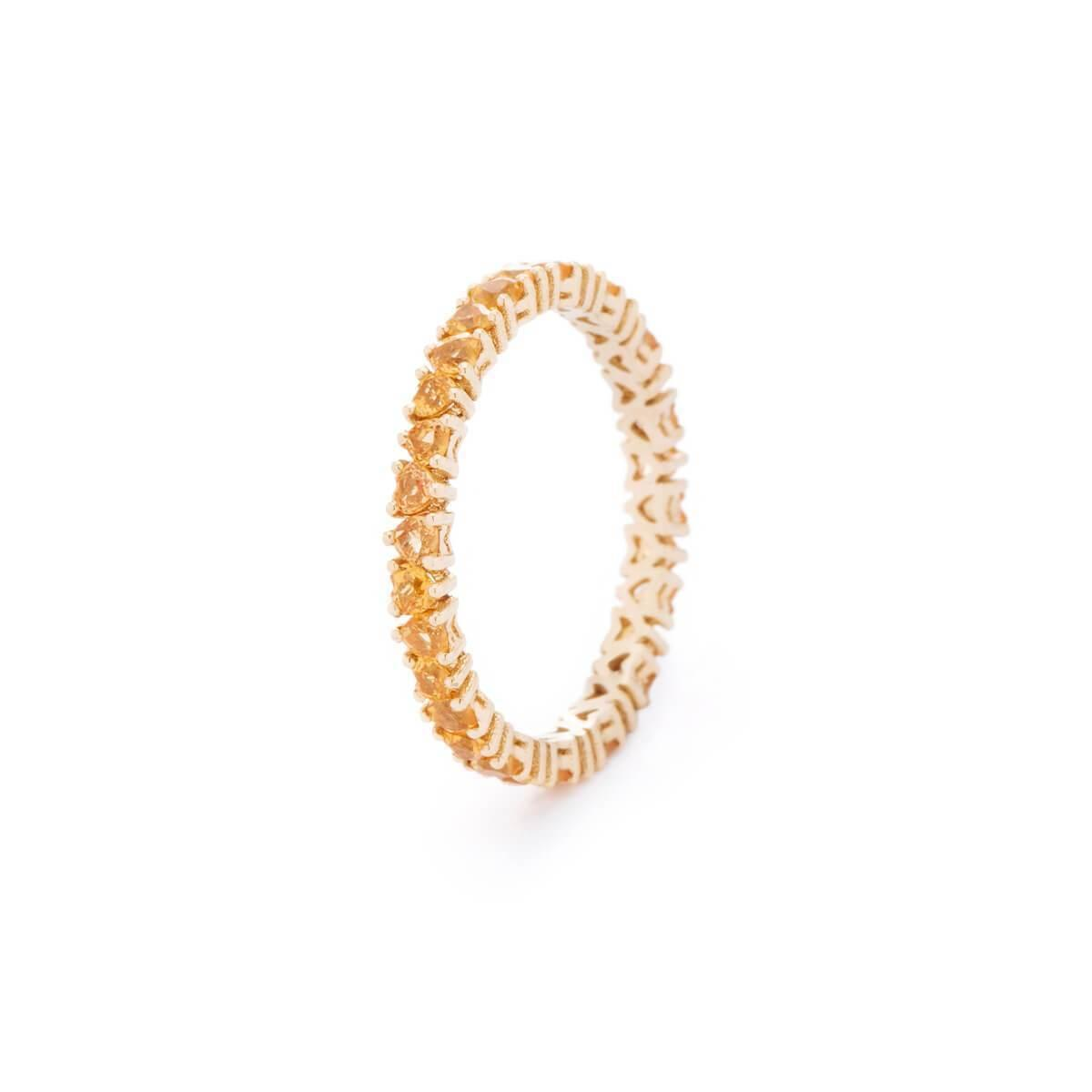 VOA Fine Jewellery Signature Heart Yellow Eternity Ring in Metallic