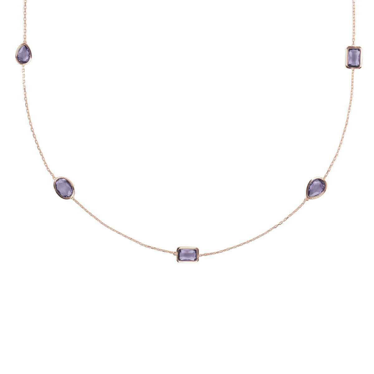 Latelita London Venice Long Chain Necklace Rose Gold Rose Quartz QdCVr2Y