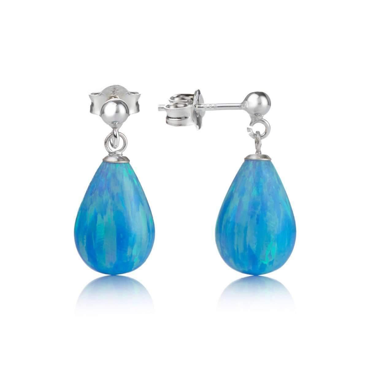 Lavan Sterling Silver & Aqua Opal Drop Earrings rljTJBZ