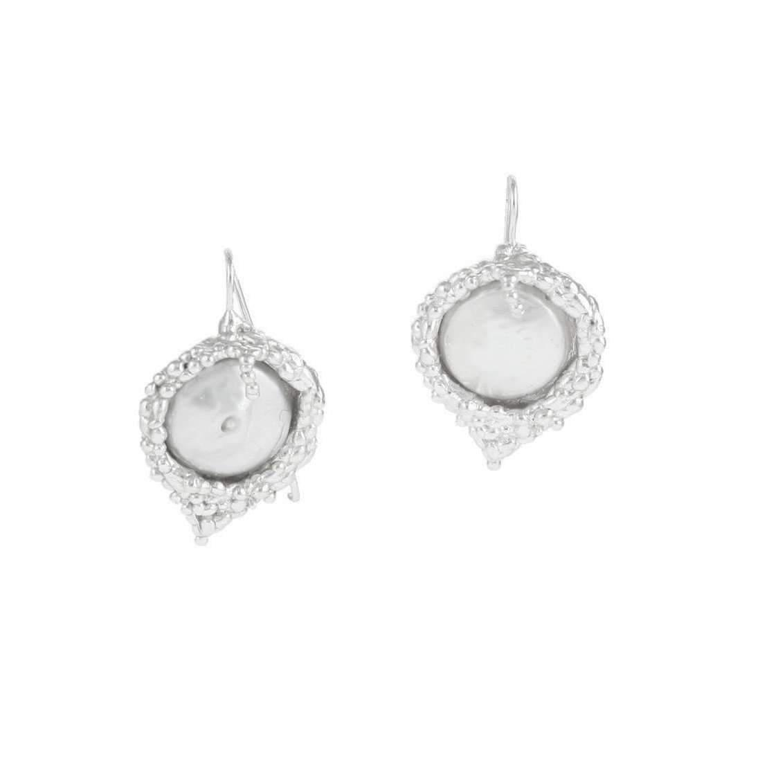 Militza Ortiz Organica Double Silver Pearl Earring rYyDHoUk1X