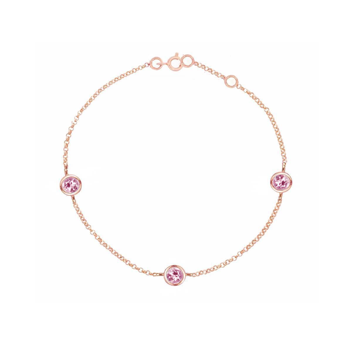 London Road Jewellery Rose Gold Solitaire Diamond Raindrop Bracelet YWcPV0