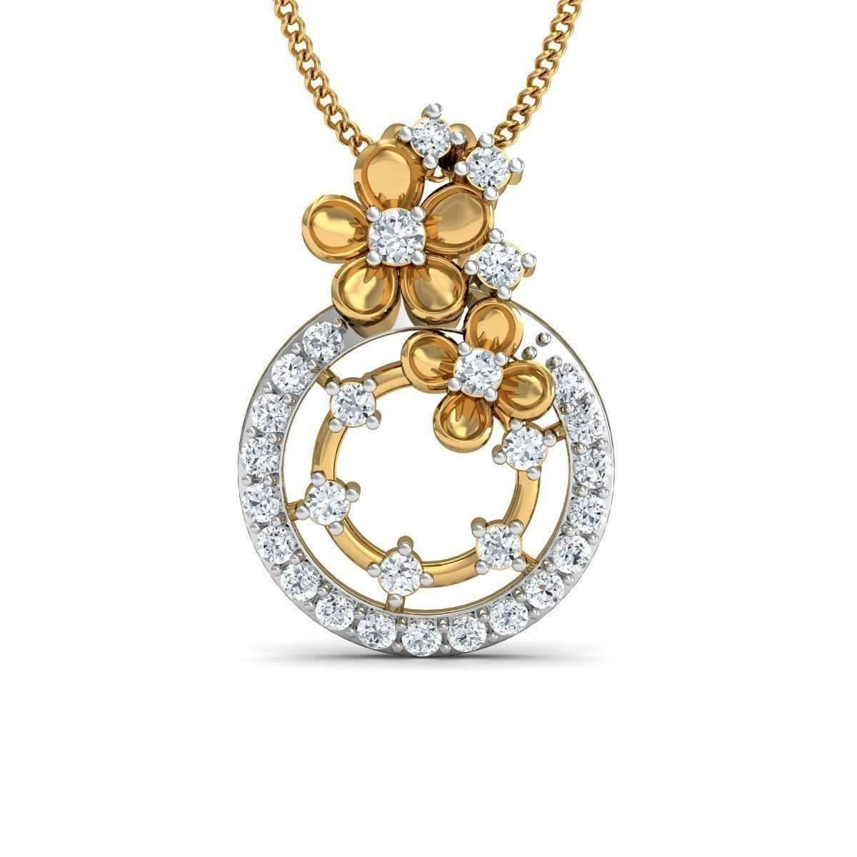 Diamoire Jewels 18kt Yellow Gold Efflorescence Diamond Pendant CAZ3oBq2l