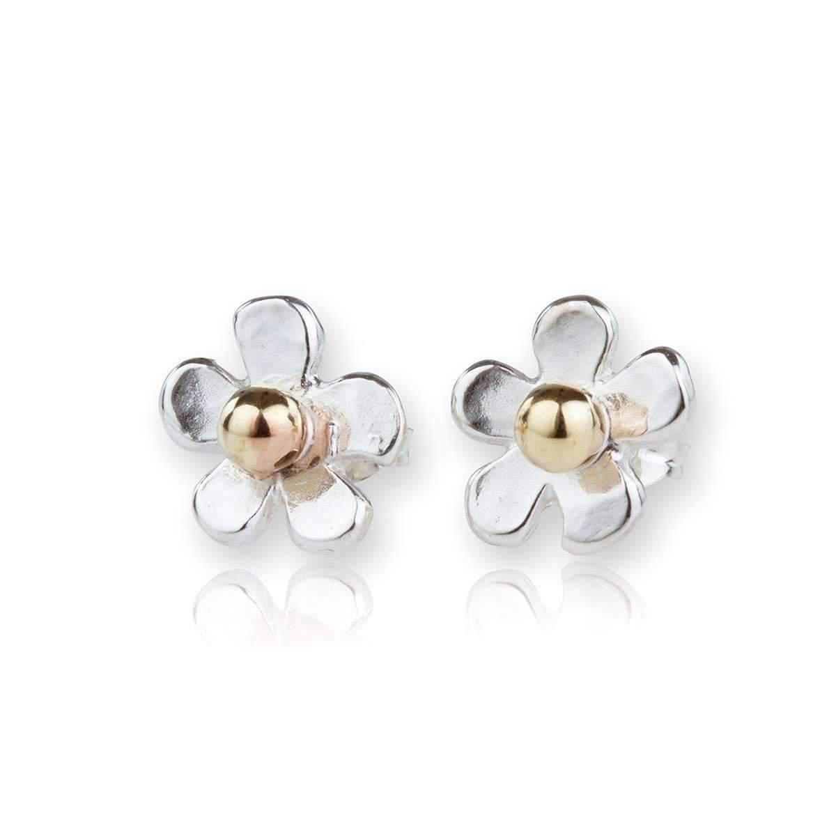 Lavan Sterling Silver & White Pearl Stud Earrings A2ZRIdu