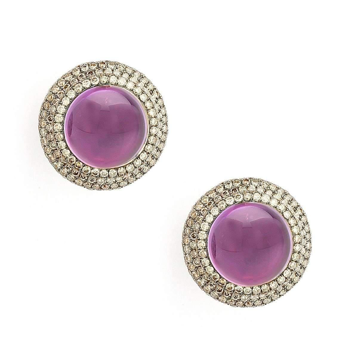 Syna 18kt Amethyst Sugarloaf Earrings cbH9s