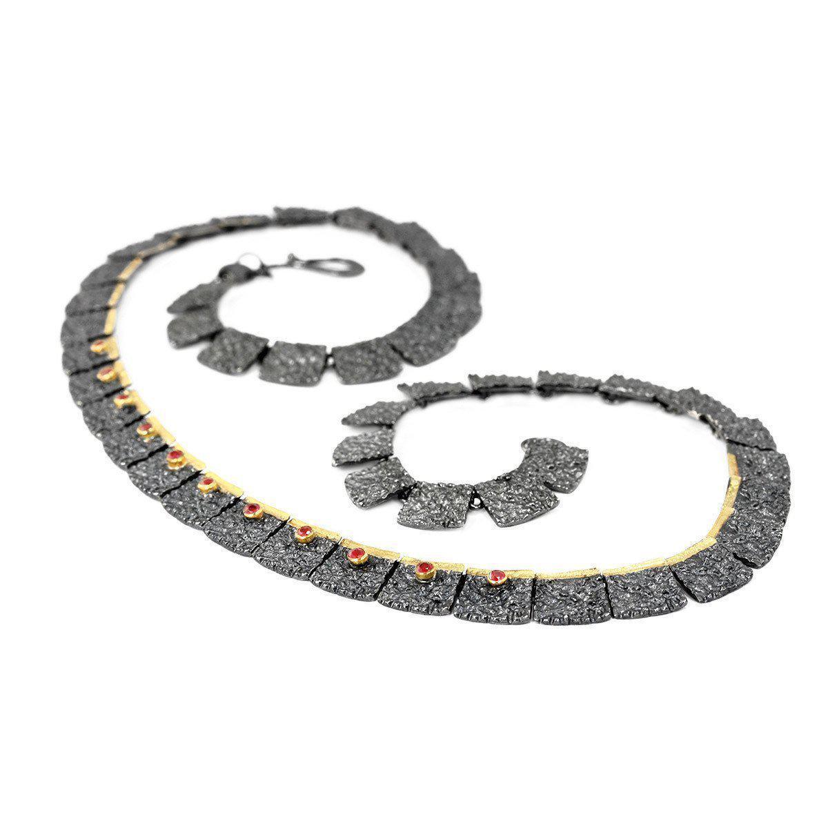 Apostolos Jewellery The Earth Song Oxidised Silver Pendant in Metallic
