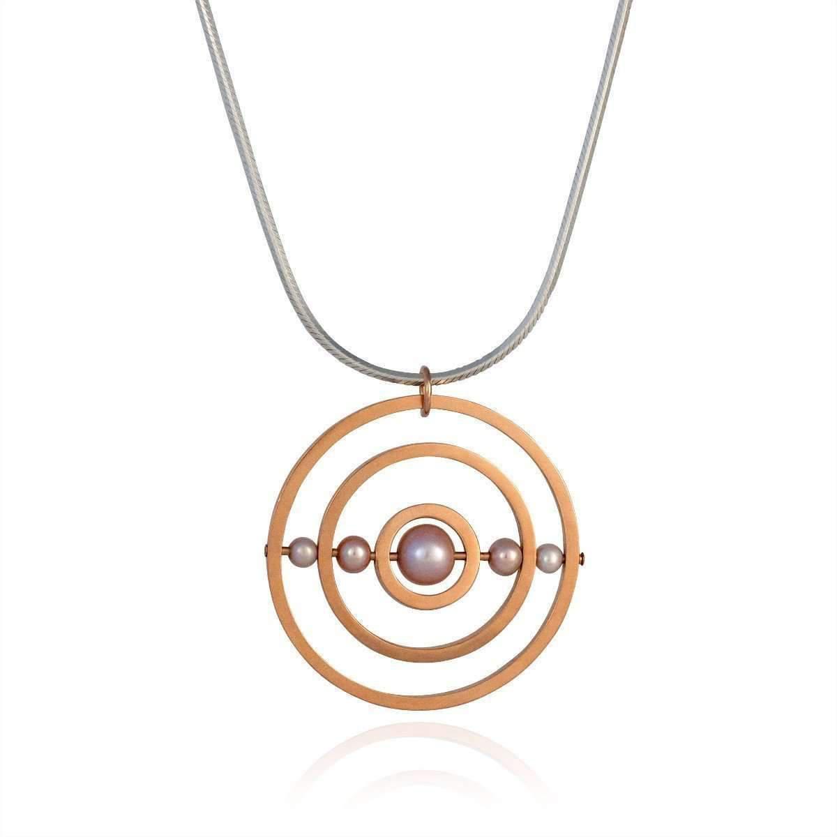 Cara Tonkin Orbit Rose Gold Cosmos Necklace mocP8r
