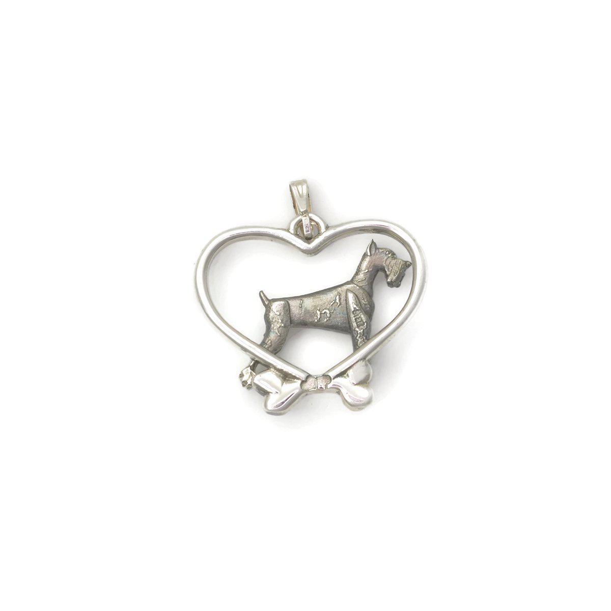 Donna Pizarro Designs Sterling Silver Schnauzer Necklace TI0luW