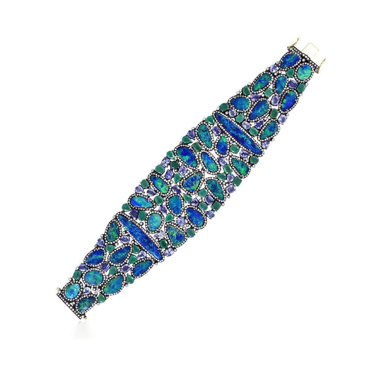 Socheec Designer Opal Diamond Bracelet a1n5znm