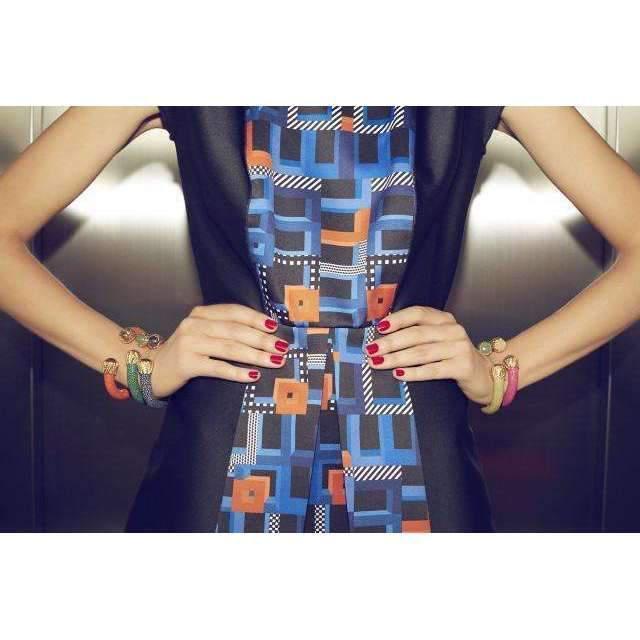 Latelita London Stingray Cuff With A Bright Orange Stone UpQhJzsXM