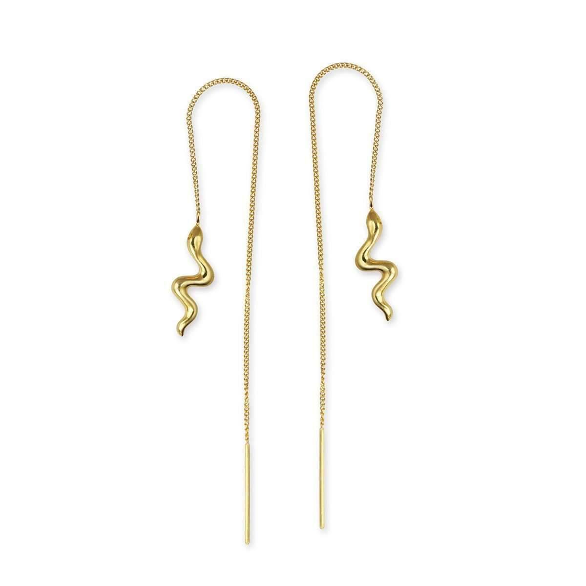 Jana Reinhardt Gold Plated Silver Snake Chain Earrings uJzIG6uh7