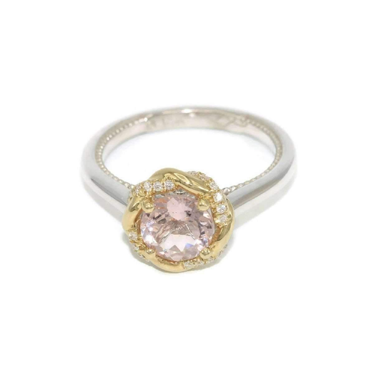 Custom Made By Irina Braided Halo Meaningful Engagement Ring In