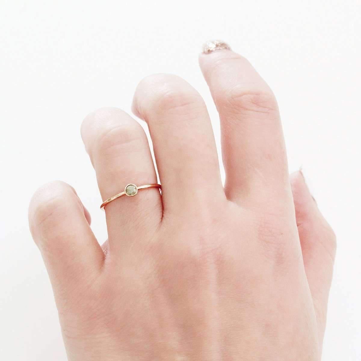 Lyst - Freerange Jewels Rose Gold Polki Diamond Stacker Ring in Metallic