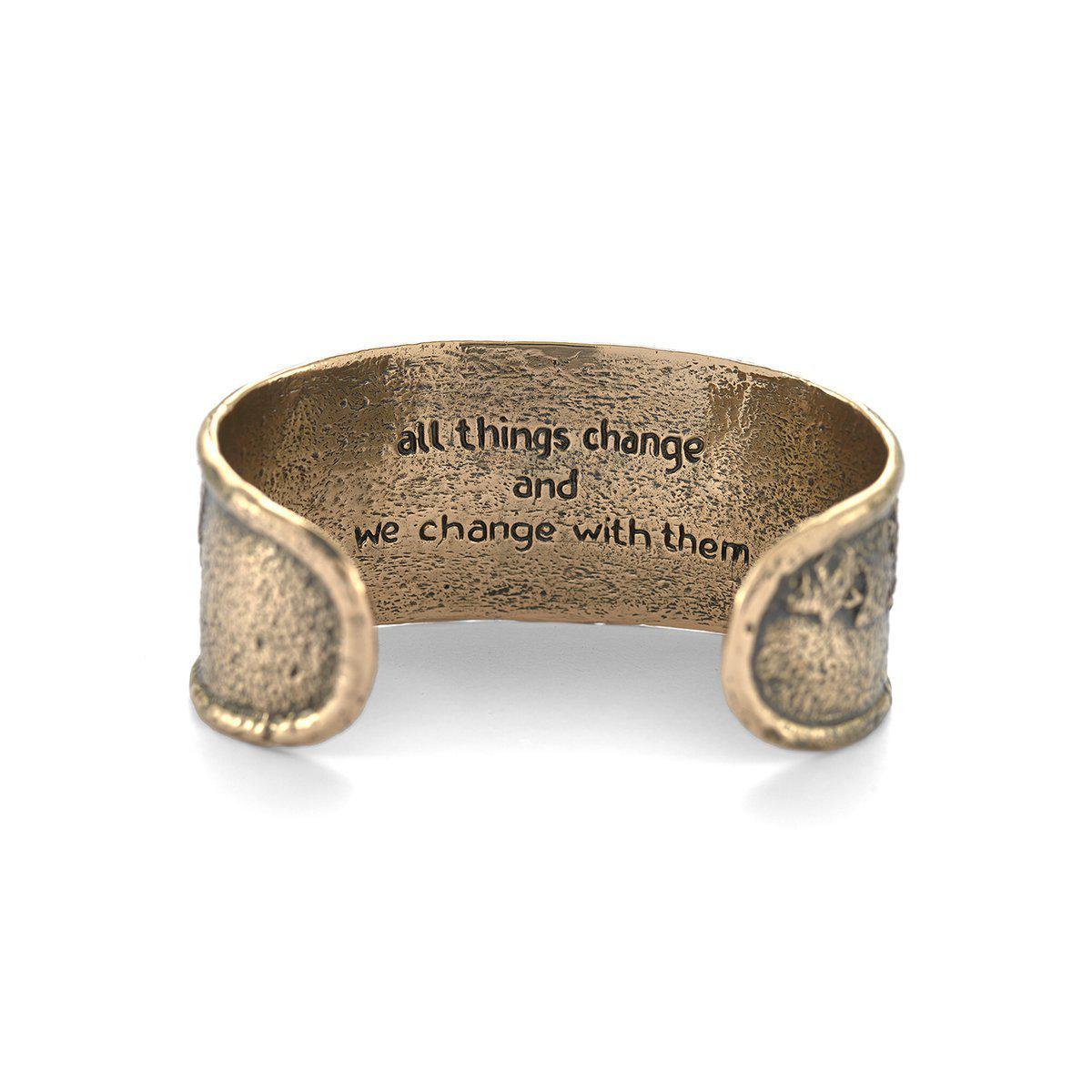 House of Alaia Tree of Life Filigree Bangle Bracelet In Bronze v2rAcZ4